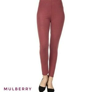 Pants - Mulberry Brushed Knit Leggings